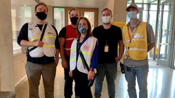 Image for Virginia mom recruits four of her sons to work alongside her on the front lines of the Covid-19 pandemic