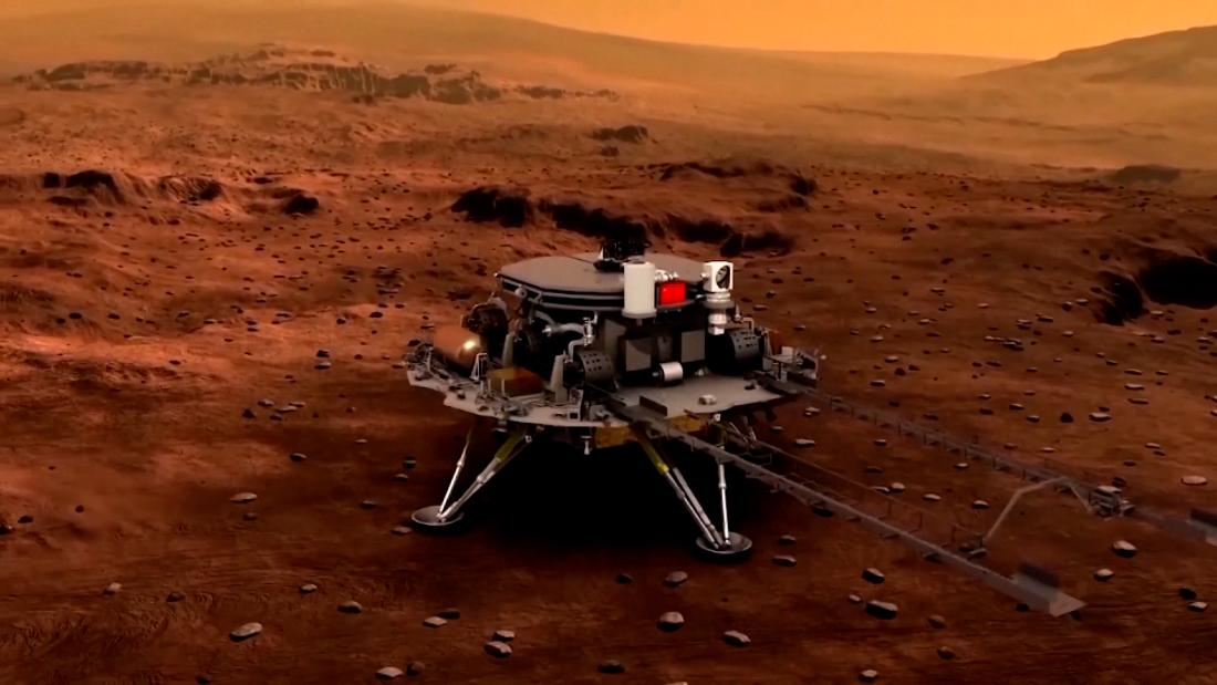 China's space agency just gave the Communist Party a big 100th birthday gift: a rover on Mars