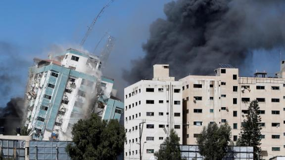Image for Israeli strikes hit home in Gaza refugee camp, media offices as conflict intensifies