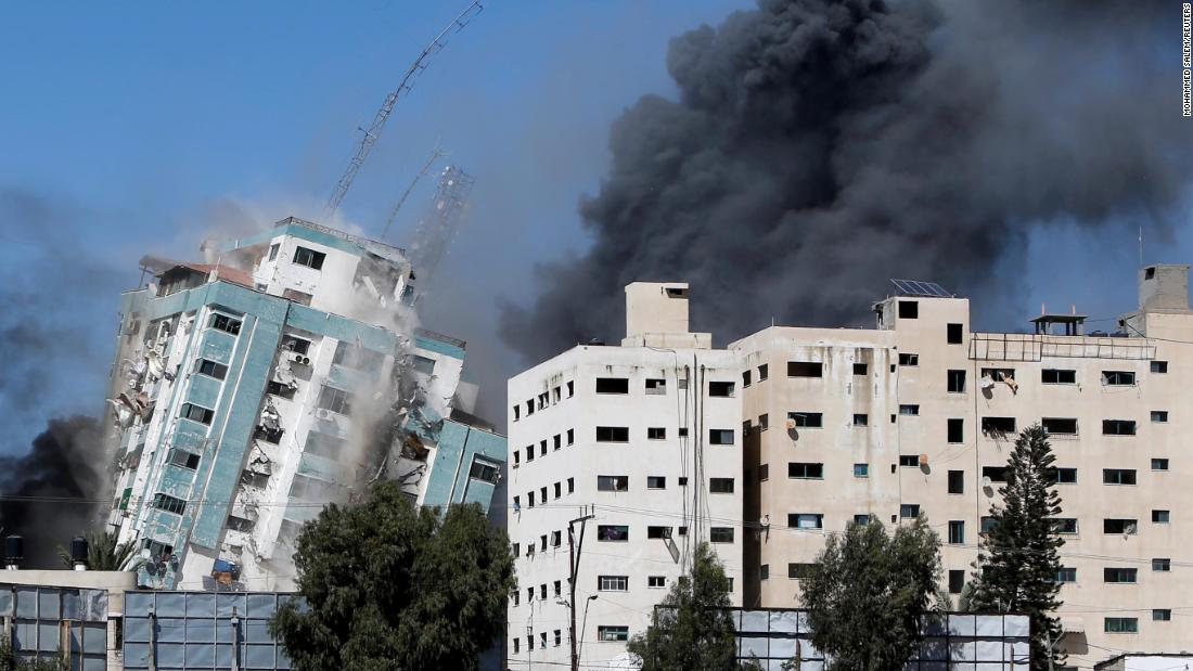 Israeli strikes hit home in Gaza refugee camp and media offices as conflict spreads