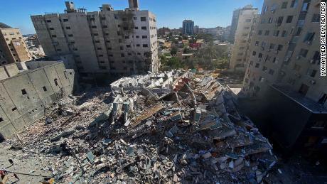 イスラエルガザ空襲でメディアオフィス破壊