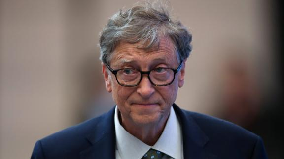 Microsoft founder Bill Gates attends a forum at the first China International Import Expo (CIIE) at the National Exhibition and Convention Centre on November 5, 2018 in Shanghai, China. The first China International Import Expo will be held on November 5-10 in Shanghai.