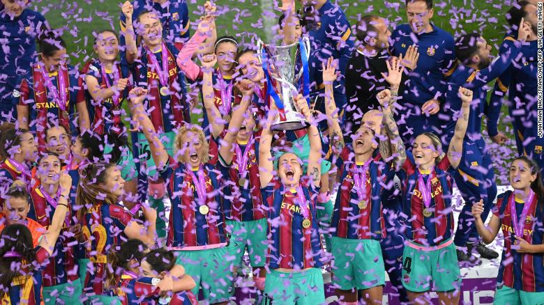 Barcelona thrashes Chelsea to win first Women's Champions League title
