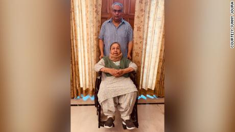 Sunny Joura and his mother Darshan were blocked from boarding a flight back to Australia from India after he tested positive for Covid-19.