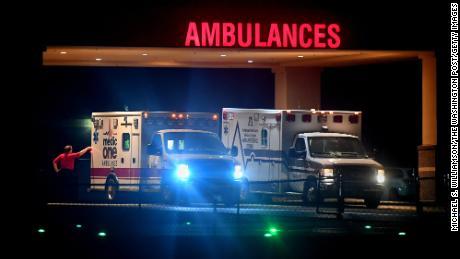 The ambulance bay at the CHS-owned Poplar Bluff Regional Medical Center in Poplar Bluff, Missouri.