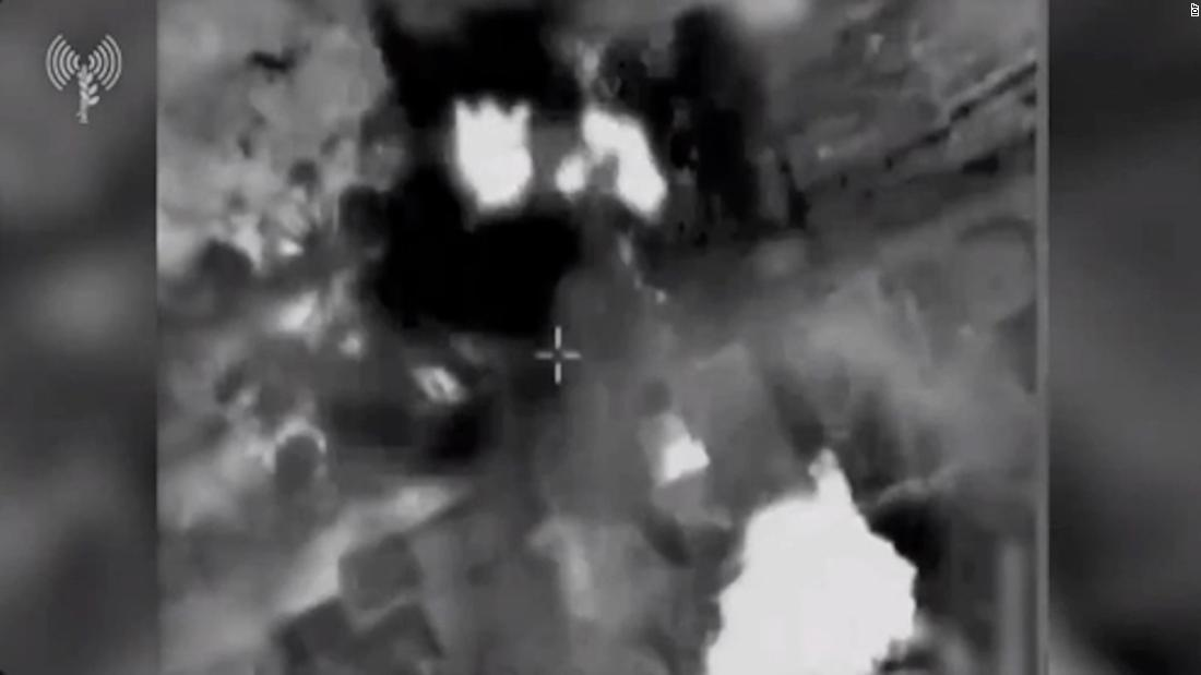 Footage shows what Israel says is its strikes on Hamas tunnels