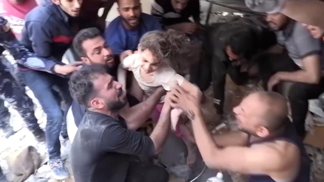 6-year-old airstrike survivor pulled from rubble