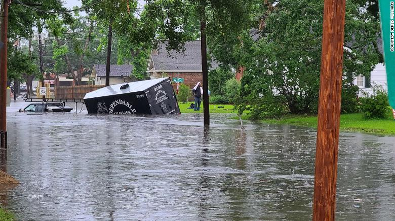 More rain fell in Lake Charles, Louisiana, on Monday than during the two damaging hurricanes last year