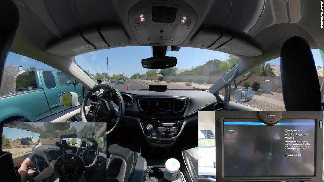 Watch self-driving car struggle to understand traffic cones