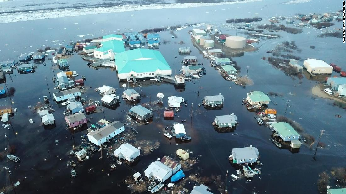 Disaster declared after an Alaskan village was inundated by more than five feet of floodwater