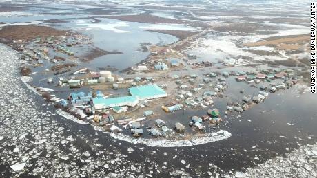 Gov. Mike Dunleavy declared a disaster after flooding in Buckland, Alaska.