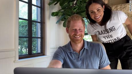 Des images de Harry et Meghan ont été incluses dans la bande-annonce.