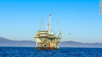 exxon mobil oil rig CALIFORNIA