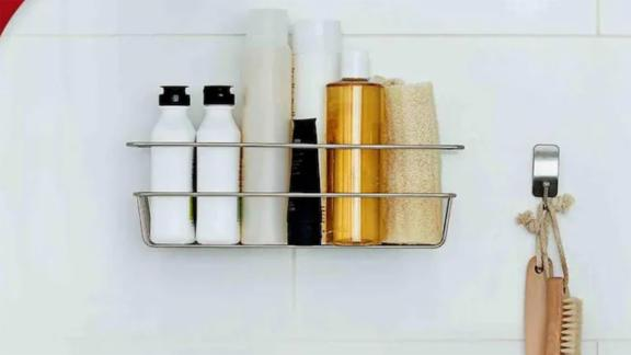 Command Stainless Steel Bathtub Caddy