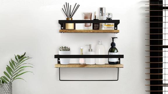 Y&ME YM Bathroom Shelf With Towel Bar Set