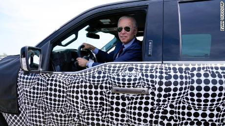 Biden takes new electric F-150 for a test drive: 'This sucker's quick'
