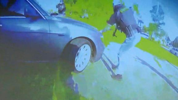 This still taken from bodycam footage shows the attempted arrest in which Andrew Brown Jr. was killed.