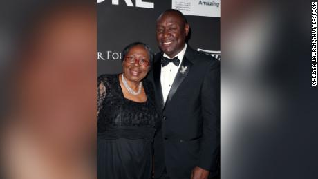 Crump with his mother, Helen Crump, at a gala at The Wiltern in Los Angeles on January 15, 2020.