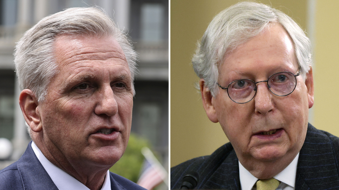 House Minority Leader Kevin McCarthy, left, and Senate Minority Leader Mitch McConnell.