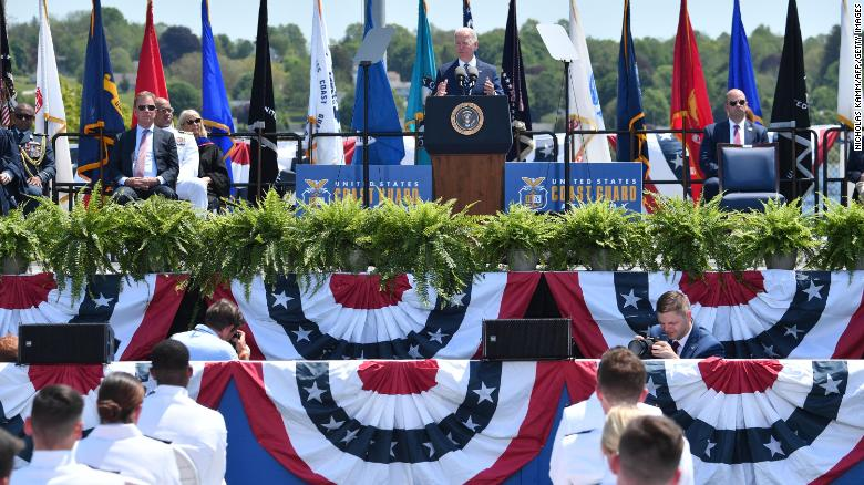 Biden singles out competition with Russia and China in Coast Guard commencement
