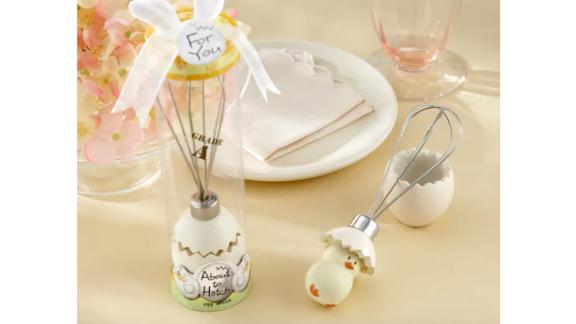 Kate Aspen About to Hatch Stainless Steel Egg Whisk Gift Box, 4-Pack