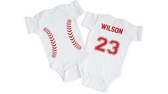 Personalized Baseball Babysuit