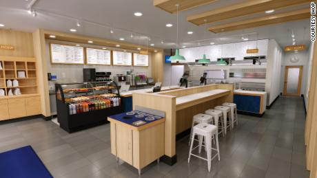 A rendering of IHOP's new fast casual concept, Flip'd.