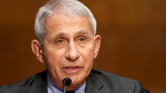 Dr. Anthony Fauci, director of the National Institute of Allergy and Infectious Diseases, gives an opening statement during a Senate Health, Education, Labor and Pensions Committee hearing to discuss the ongoing federal response to COVID-19 on May 11, 2021 in Washington, DC.