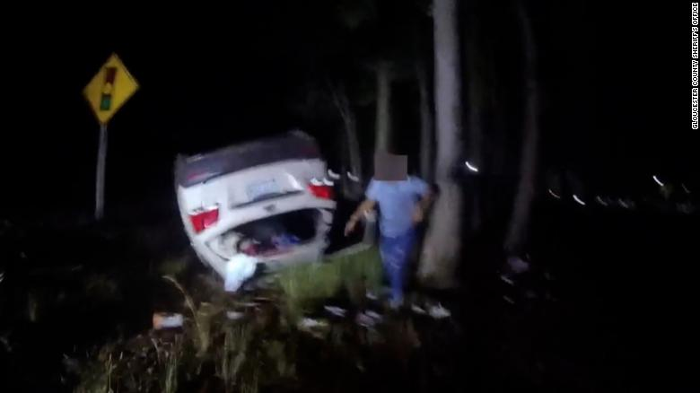 Deputy saves woman by lifting an overturned vehicle off her head