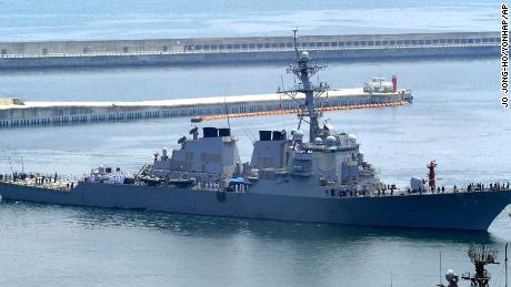 U.S. destroyer backs Biden's harsh words in South China Sea
