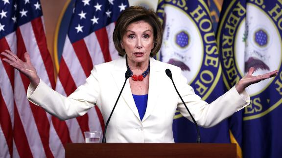 WASHINGTON, DC - MAY 20: Speaker of the House Nancy Pelosi (D-CA) holds her weekly press conference at the U.S. Capitol on May 20, 2021 in Washington, DC. Pelosi spoke on the January 6th Commission and the police reform bill. (Photo by Kevin Dietsch/Getty Images)