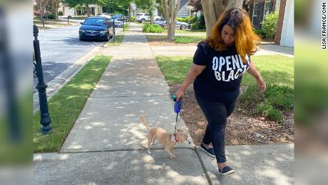 Lisa France started walking her dog more often so they could both get out of the house.