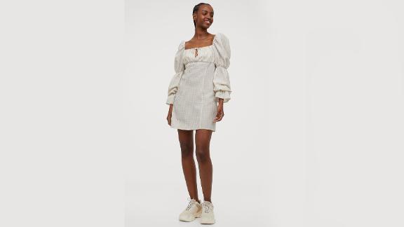 Short Puff-Sleeved Dress