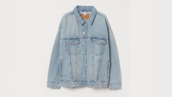 H&M+ Oversized Denim Jacket