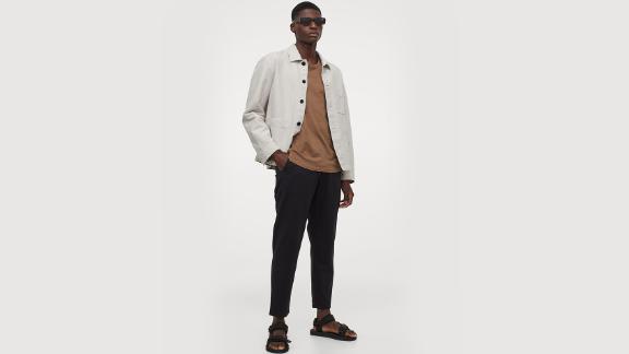Linen-Blend Shirt Jacket