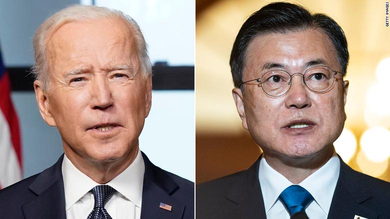 Biden meeting South Korean President as he turns his focus toward East Asia