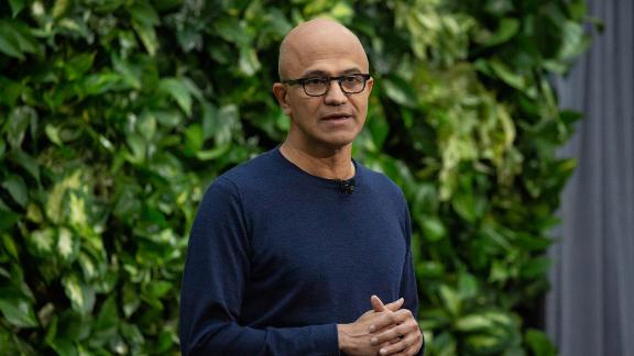 Satya Nadella, chief executive officer of Microsoft Corp., speaks during a climate initiative event at the Microsoft Corp. campus in Redmond, Washington, U.S., on Thursday, Jan. 16, 2020. Microsoft unveiled plans to invest $1 billion to back companies and organizations working on technologies to remove or reduce carbon from the earth's atmosphere, saying efforts to merely emit less carbon aren't enough to prevent catastrophic climate change. Photographer: David Ryder/Bloomberg via Getty Images