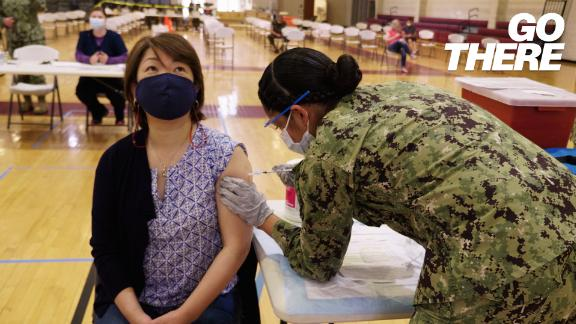 Image for Half of US states have fully vaccinated at least 50% of adults. We need to keep going to prevent future outbreaks, official says