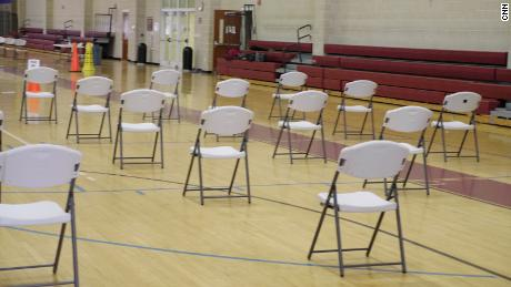 Empty chairs at the Naval Medical Center at Camp Lejeune