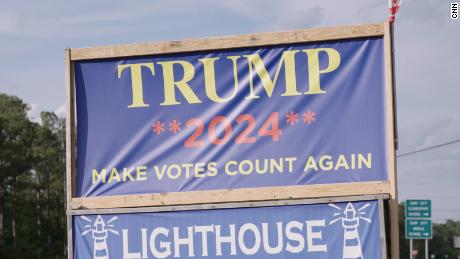 A pro-Trump sign in Onslow County