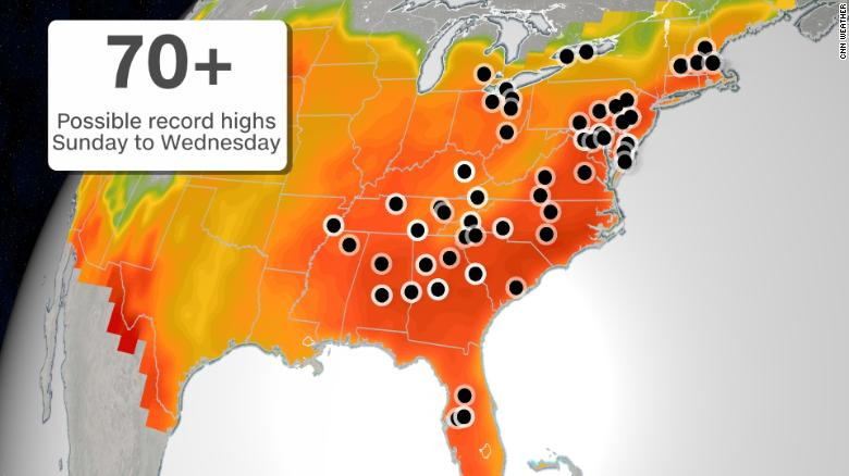 A massive heat dome is about to make the Southeast sweat 210522114632-weather-record-heat-eastern-us-052221-exlarge-169