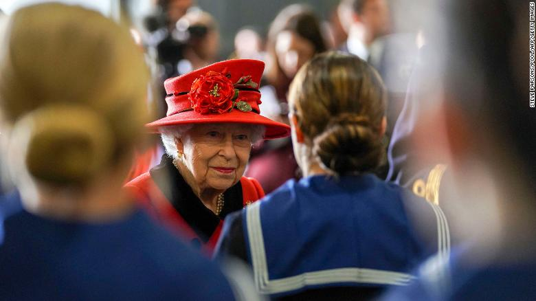 Queen Elizabeth visits UK's largest warship, as it set sails for South China Sea