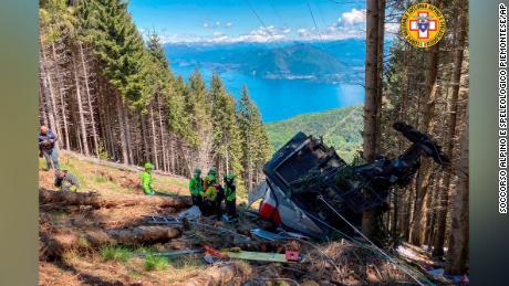 L'accident s'est produit près du sommet de la montagne Mottarone.
