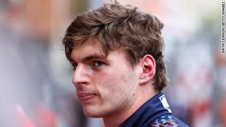 Verstappen looks on after his winning performance on Sunday.