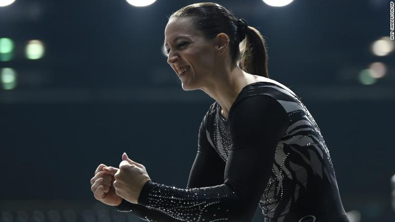 A 32-year-old mom of two and Olympic medalist competes in first gymnastic meet in 9 years