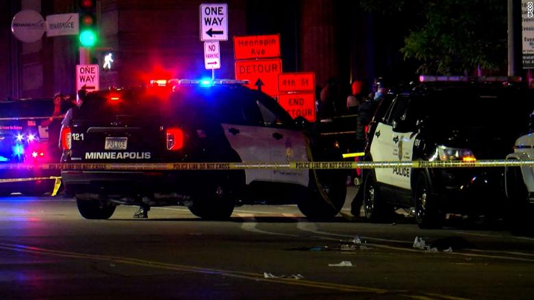 Police responded to a shooting in Minneapolis around bar closing early Saturday morning.