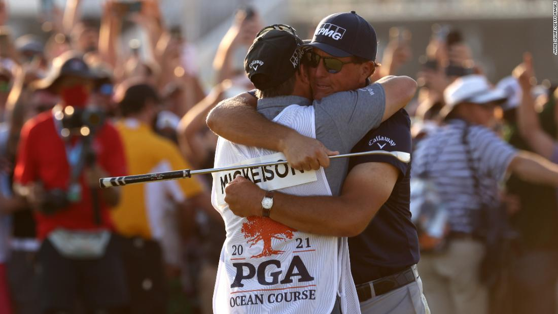 How Phil Mickelson's history-making major victory was a family affair