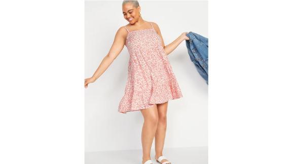 Printed Sleeveless Tiered Swing Dress