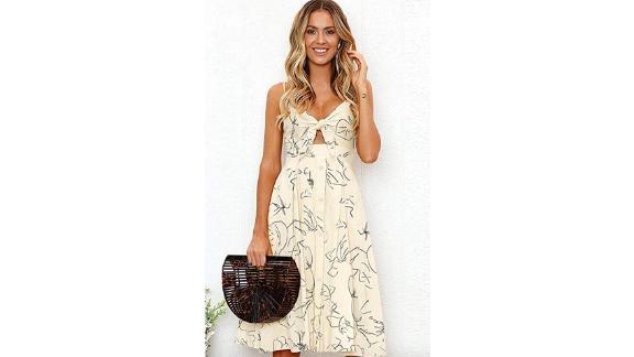 Ecowish A-Line Midi Dress