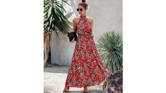 PrettyGarden Sleeveless Floral Maxi Dress